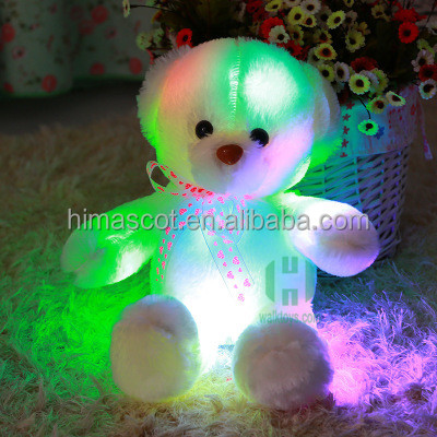 HI CE creative light LED cheap 35cm plush Teddy bear ,stuffed animal plush toy for kid