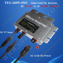 260W MPPT, Communication and Waterproof Function, Solar Micro Inverter Tied On Grid 24V 48V