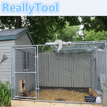 backyard galvanized metal dog kennel High quality large outdoor chain link dog house Wholesale