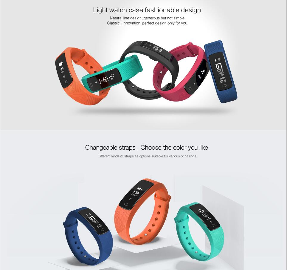 2018 USB Charging Waterproof Bluetooth Smart Bracelet With Blood Pressure And Heart Rate Monitor Fitness Tracker