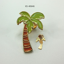 Custom Coconut Tree Brooch Coconut Tree Magnetic Brooches