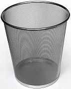Store More Round Metal Mesh Wastebasket Black