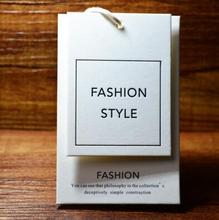 Custom design logo printing clothes paper hang tag for garment