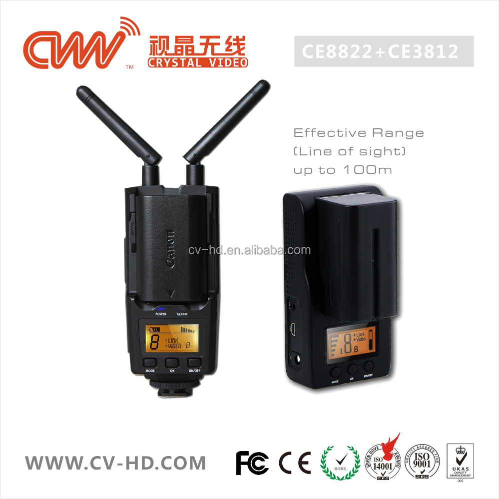 CVW100 CB8822/CB3812 wireless HDMI/SDI video transmitter 100M HD for photography, filming and video production, no latency
