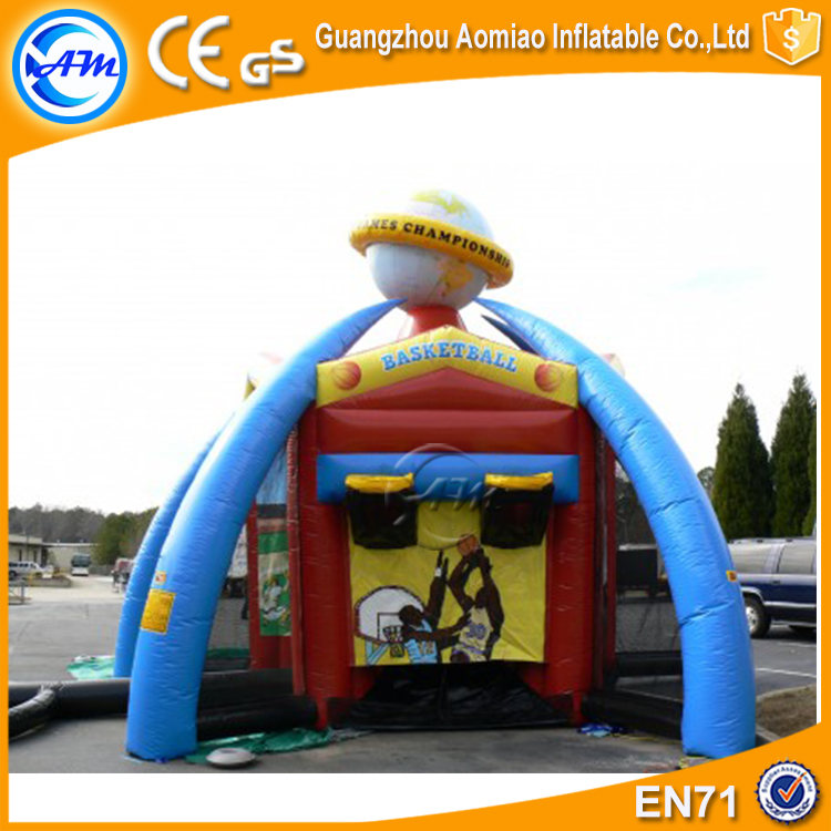 Crazy Inflatable World Sports Games Air Basketball Pitch Game inflatable Interactive sport bounce