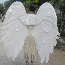 factory directly selling white feather costume wings for theme party