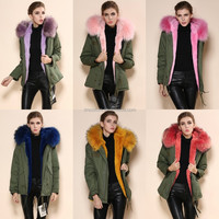 Genuine Italian Design Fox Fur Clothes 2015 Fashion Woman OEM Wholesale Retail ladies' coat