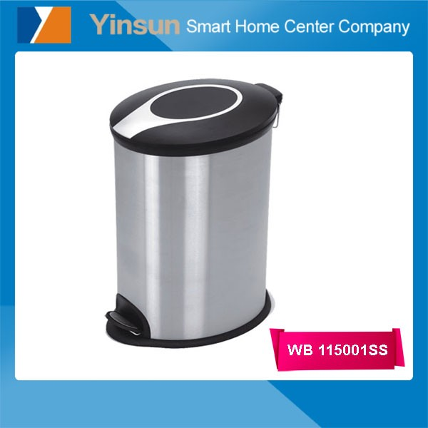 High Quality stainless steel Pedal Metal Trash Can Household Ash Bin Garbage Bin
