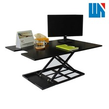 Office/home furniture desktop/laptop metal frame wood corner computer desk