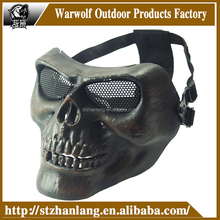 airsoft face masks/tactical military mask skull plastic softguns mask M02
