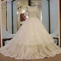 LS59678 hot sale latest gown designs wholesale short sleeve 2017 romantic sexy bride fabric wedding dresses