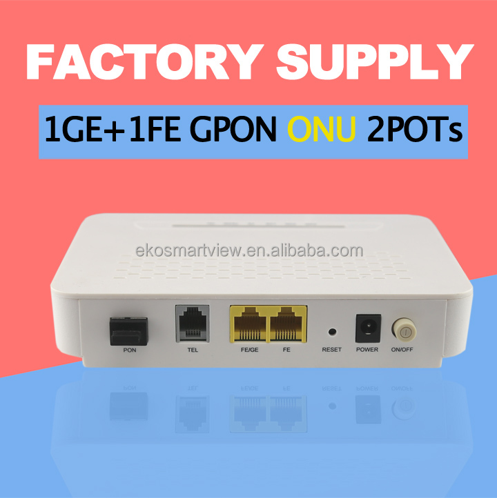 GPon fiber ONU ONT 2GE with POTS work with HUAWEI ZTE OLT FTTH FTTB FTTC