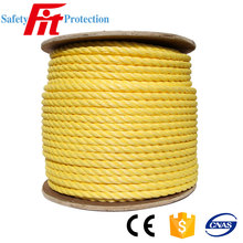 3-Strand Twisted Yellow Polypropylene Rope