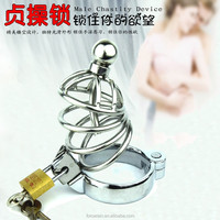 Top Quality Sexy Male Metal Chastity Device Cock Cages Men's Lock Penis Rings Adult Prodcuts Games Sex Toys