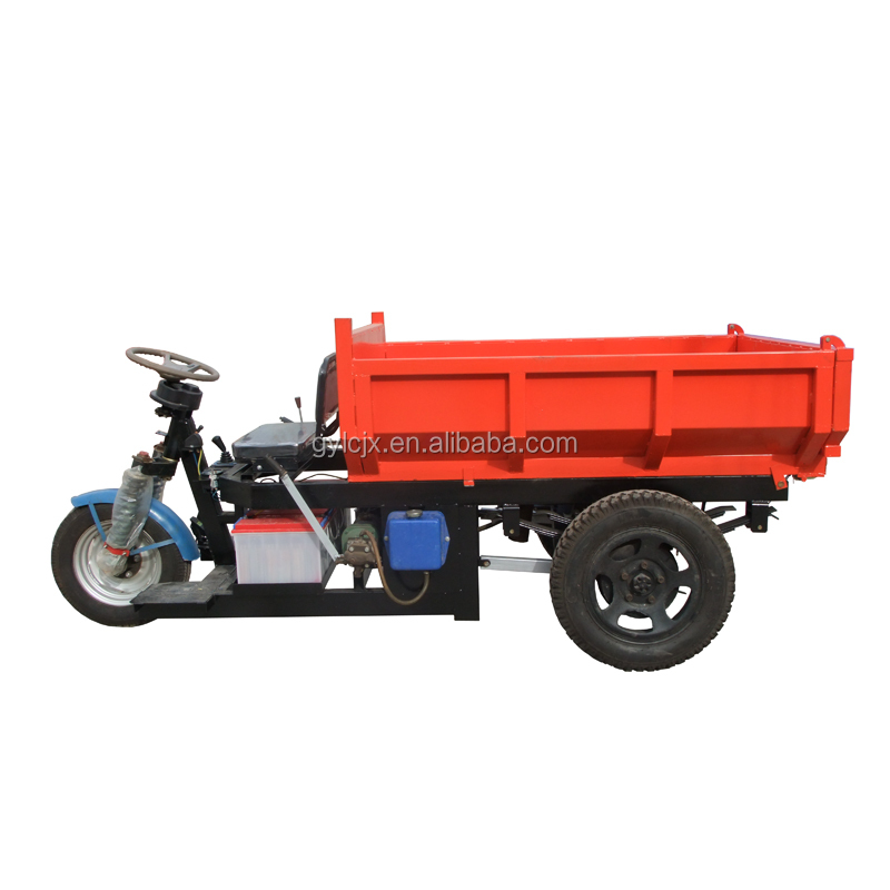 Popular battery cargo tricycle with hydraulic system/high quality three wheels tricycle motor cycle