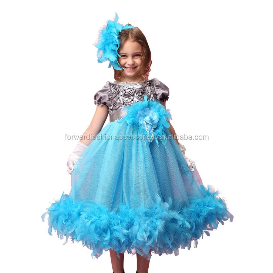 Blue Satin Dress Children, Blue Satin Dress Children Suppliers and ...