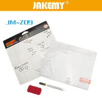 Wholesale JM-Z09 Magnetic Project Mat Screw Work Pad with Marker Pen Eraser Phone Laptop Tablet Phone Repair Tools Board Plate