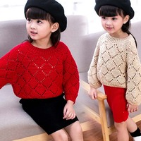 ca90022 knitted korean style fashion latest girls dress suit