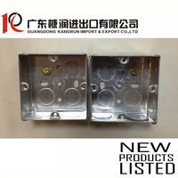 Iron junction box metal electric switch outlet box,GI Box with terminal