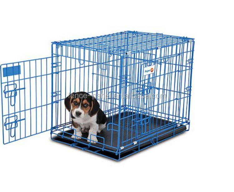 China wholesale wire folding pet crate dog cage / metal wire dog cage
