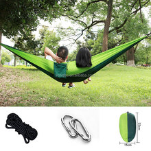Kongbo Outdoor High Quality Durable Parachute Camping Hammock With Tree Straps Double