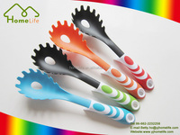 Popular new design high quality colorful handle nylon kitchen spaghetti server spoon