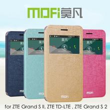 MOFi RUI Series Smart Window View Cover for ZTE Grand S lI, ZTE TD-LTE, PU Leather Flip Case for ZTE Grand S 2