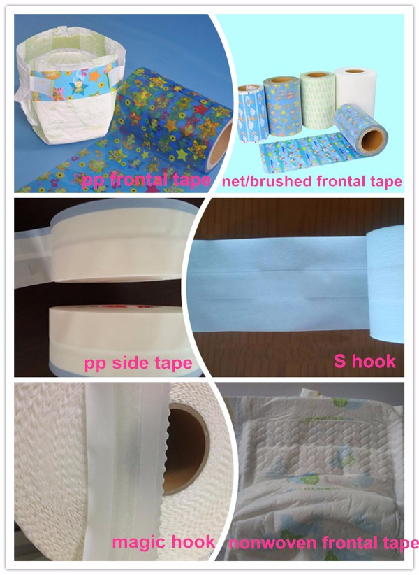 Good quality raw materical of PP frontal tape for baby diapers