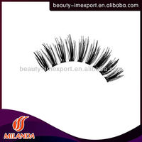 High quality human hair false eyelashes perfect eyelash extension glue