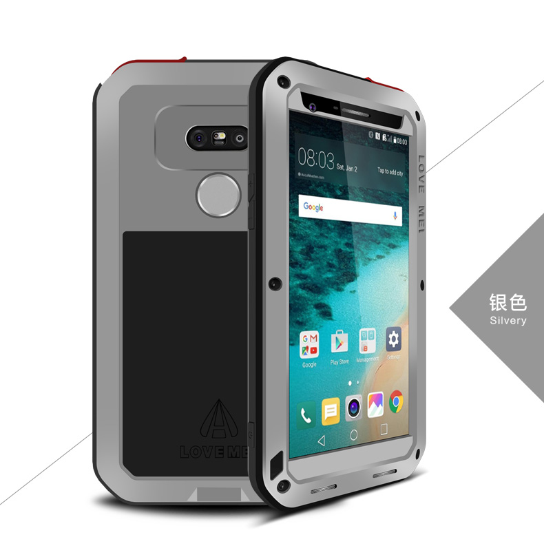 ORIGINAL Love Mei Powerful SHOCkproof Waterproof Rugged Metal METAL case +GORILLA GLASS for LG G5