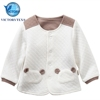 Infant & Toddlers White Organic Cotton Quilted Newborn Baby Jacket Clothing Set Coat