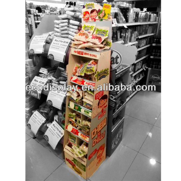 shenzhen manufacturer custom cardboard display stands for chewing gum