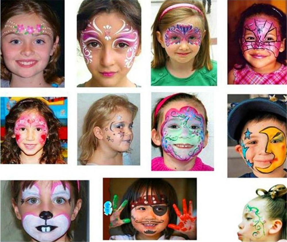 Краска для лица как сделать фото