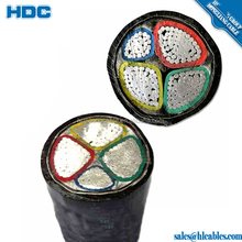 power cables and wires aluminum PVC 4cores flexible cable