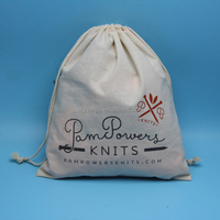 custom logo drawstring small cotton flour bags
