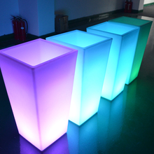Plastic Battery Operated Led Flower Pots/illuminated Garden