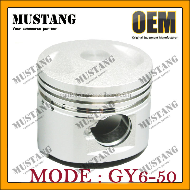 OEM Cheap Price of Piston motorcycle engine spare parts GY6 for honda