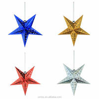 Umiss Paper Star Sliver, Gold Foil 3D Hanging Decoration, Chrismas Decoration