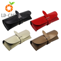 New style hot sale fold leather sunglasses case