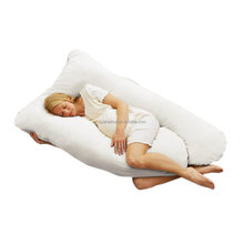 U Shaped- Premium Contoured Full Body Pregnancy Maternity Pillow With Zippered Cover - Exclusively By Blowout Bedding
