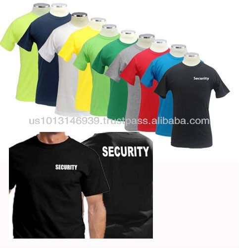 100% Cotton Short Sleeves T Shirts With Security ID