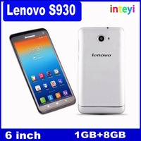 Original Lenovo S930 MTK6582 Quad Core WCDMA 3G mobile phone 6'' IPS Android 4.2 1GB/8GB Dual SIM 8.0MP Bluetooth GPS Smartphone