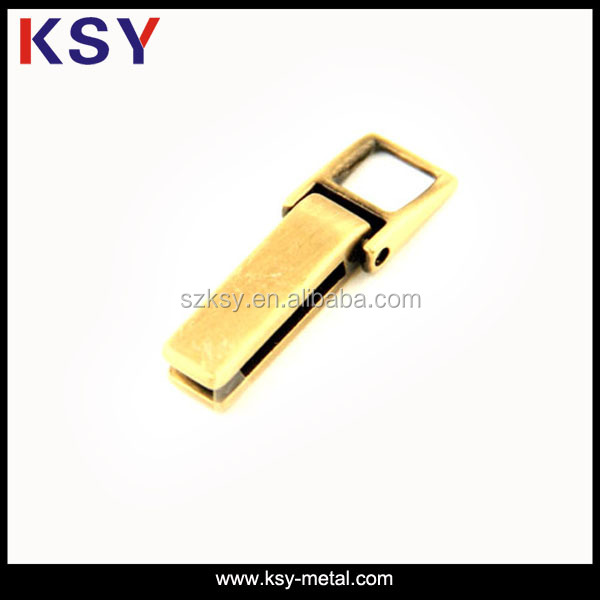 fashion custom inch brass zipper pull for bags