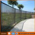 Powder coated security steel fence panels