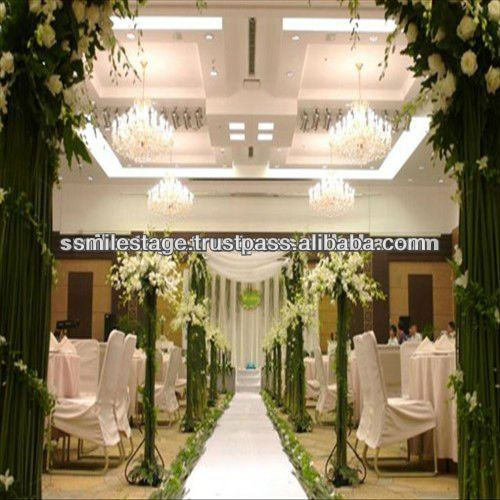 wedding backdrop design with different pipe and drapery