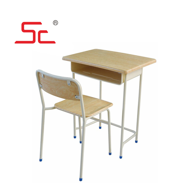 School furniture single desk and chair in school sets