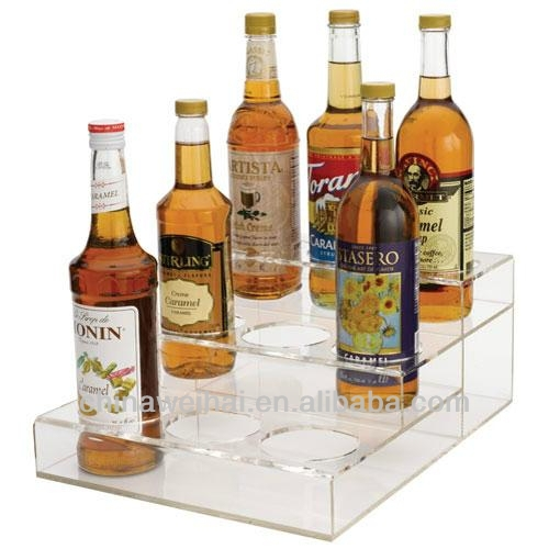 Clear Acrylic bakery display shelves