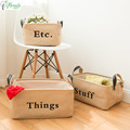 High Quality Foldable Natural Cotton Linen Storage Baskets