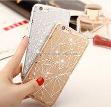 Ultra thin Bling IMD+Tpu Diamond pattern Glitter Shining back case for iPhone 5