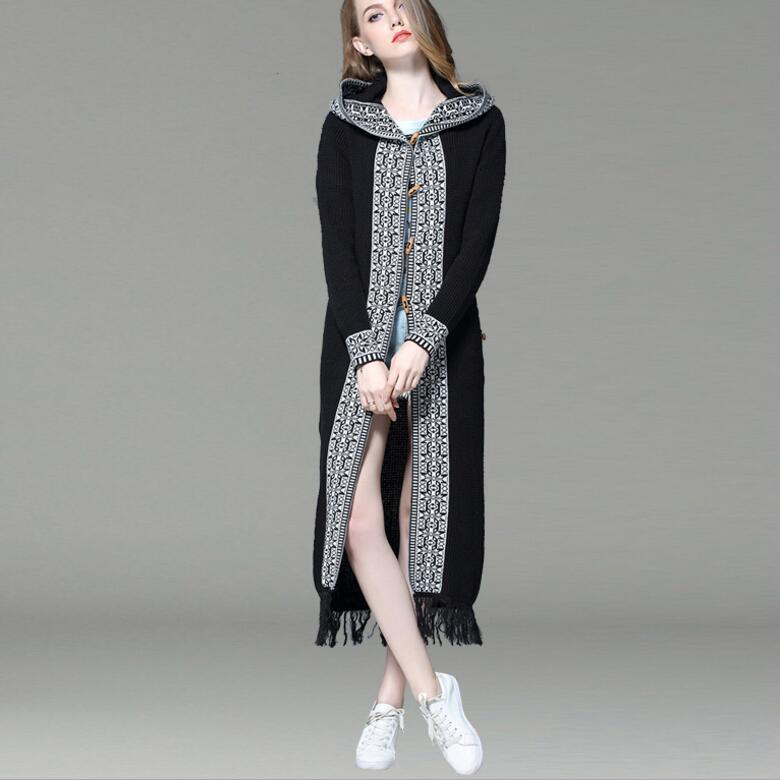 Super September Hot Sale Fashion Autumn Winter Women's Casual Hooded Fringe Cardigans